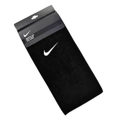 Nike Black embroidered golf fitness gym sports workout towel Black