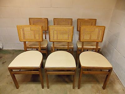 Set 6 Vintage Mid Century Stakmore Folding Chairs *
