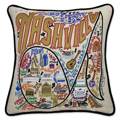 Nashville Hand-Embroidered Pillow