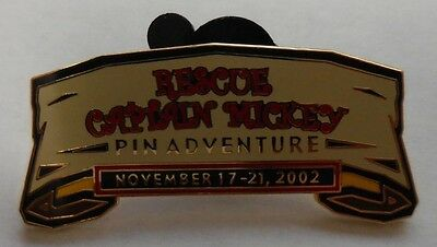 Disney pin DCL 2002 Rescue Captain Mickey Pin Event Completer Pin