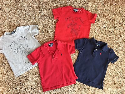 Lot Of 4 Ralph Lauren Toddler Boys Size 2T 24 Months Tops Tshirts Pony Polo