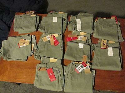 10 New Woolrich Sunday Chino Capri Pants-Sage (Light Green) Size 10