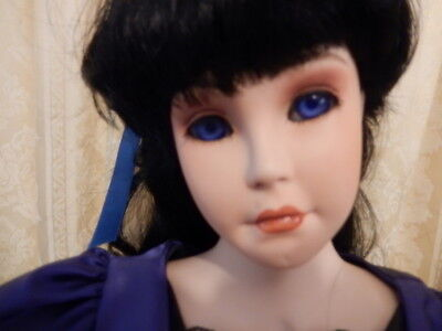 """Rachael 28"""" unique porcelain artist doll - beautifully worked and painted"""