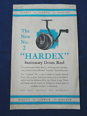 A Scarce Vintage Hardy Advertising Pamplet For The No. 2 Hardex Fishing Reel