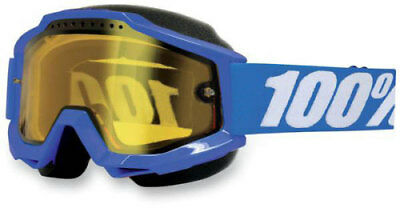 100% Accuri Snow Snowmobile Goggles Blue Yellow Solid 50203-002-02 95-1150 Blue
