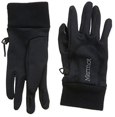 Marmot, Guanti Donna Power Stretch, Nero (Black), XS (q0g)