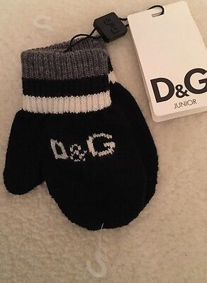 Baby Boys Authentic D&G Mittens, Size 6U