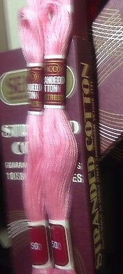 2 X SEMCO Embroidery Thread- Skeins 100% Cotton -  850 pink