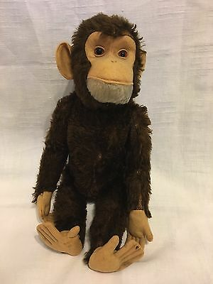 STF19 * Vintage Yes No Schuco Tricky Ape Monkey 1950s Mechanical Toy large