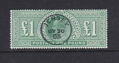 SG266: £1.00 Dull Blue-Green: Superb Used 'Jersey' CDS: Fine FORGERY