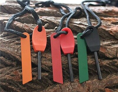 Outdoor Camping Survival Equipment Fire Waterproof Hiking Flint Magnesium Rod