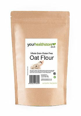 yourhealthstore Premium Whole Grain Gluten Free Oat Flour Various Weights