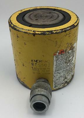 """Enerpac Rcs-502 Low Height 50 Ton 2"""" Stroke Hydraulic Cylinder 10,000 Psi"""