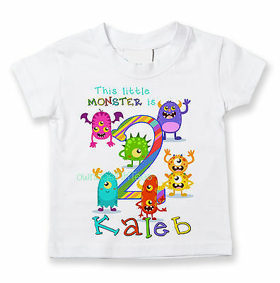 Little Monsters Birthday T-shirt, Personalize, custom, party, ADD Name and Age