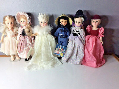 """Lot(6) Effanbee 11""""  playsize story time collector's dolls Plastic Vinyl jointed"""