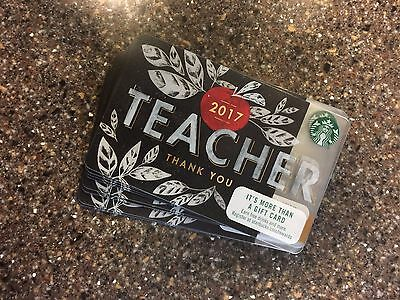 "2017 Starbucks ""teacher Thank You"" Gift Card #6136 Issued In 2016 No Value"