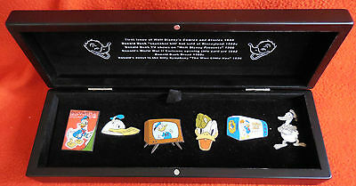Disney Pin DLR Disney Catalog Donald Duck Through the Years Boxed Set of 6 Pins
