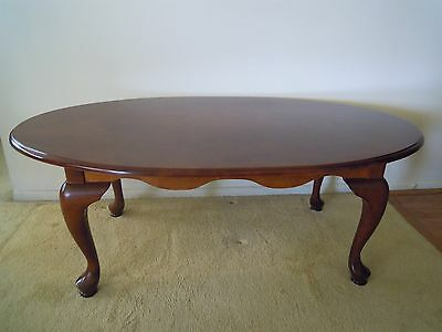 Bombay Company Queen Anne Solid Mahogany Walnut Coffee Table 119 00 Picclick