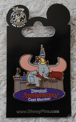 Disney Pin DLR Cast Member Disneyland 57th Anniversary with Dumbo Pin