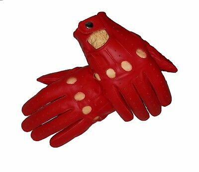 Red Sheep skin leather driving gloves for Men
