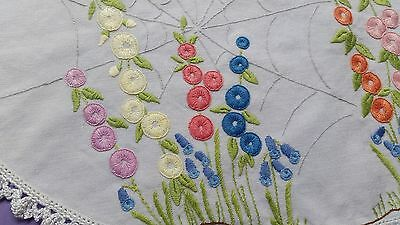 Vintage Hand Embroidered Doily/table Centre  - Lovely!!