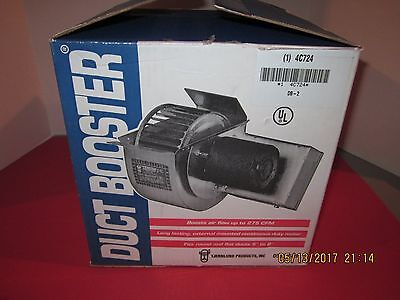 """Duct Fan Booster TJERNLUND DB-2 fits round or flat ducts 5"""" to 8"""" (275 CFM)"""