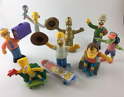 The Simpsons Burger King Toys Lot Of 9