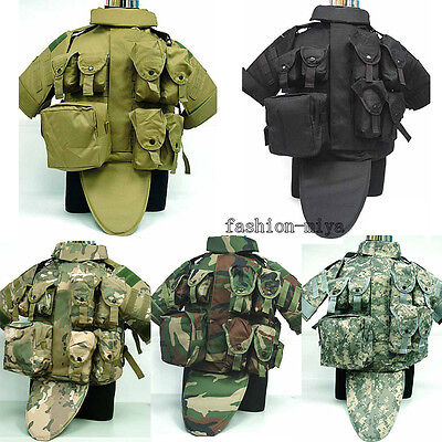Tactical Military Airsoft Vest Paintball Molle Plate Carrier Combat Mag Pouch