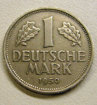 1950 G Germany 1 Deutsche Mark Coin