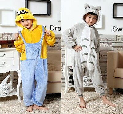 Minions/My Neighbor Totoro Cute Animals Loungewear Kid's Unisex Cozy Nightwear