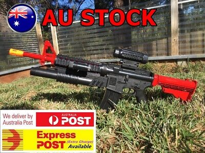 M4 With M203 Prop Costume Assault Rifle Removable Scope Torch Extendable 1Stock