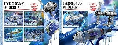 Z08 ST16513ab Sao Tome and Principe 2016 Orbital techniques MNH Set