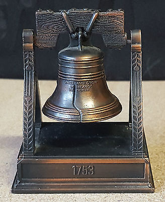 """Vintage Copper/Bronze """"1753 Pass & Stow Bell On Stand """" Pencil Sharpener 7cm"""