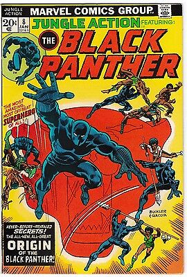 JUNGLE ACTION #8 (VF-) Origin of BLACK PANTHER! 1st Full Appearance of MALICE!