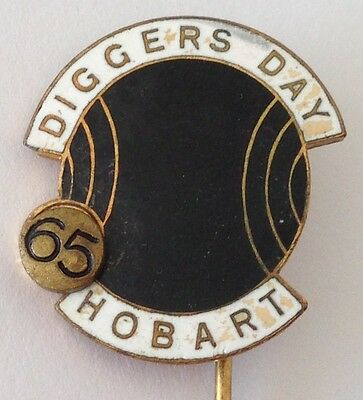 Hobart 1965 Diggers Day Bowling Club Badge Pin Rare Vintage (M12)