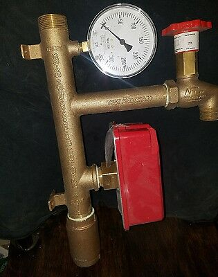 fire sprinkler Resi-Riser1.5 inch riser manifold with check valve test and drain