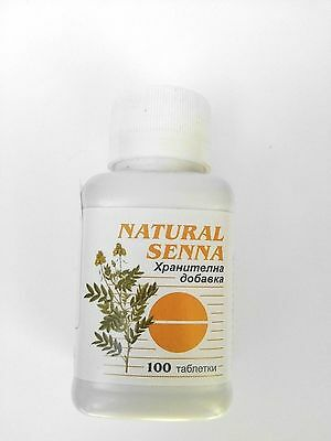 Senna Laxative X 100 Tablets Herbal Constipation & Weight Control & Weight Loss