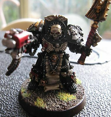 40K Space Marines Chaplain in Terminator Armour well painted