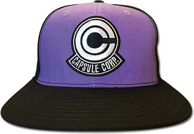 **License** Dragon Ball Z Capsule Corp Purple Fitted Headwear Cap Hat #88147