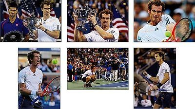 Andy Murray US Offene Tennis Grand Slam Gewinner POSTKARTE Set