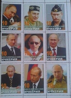 President Putin of Russia sheet of Ichkeria 2013