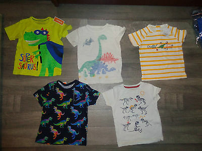baby boy Next dino tops tshirts NEW/wore once 12-18