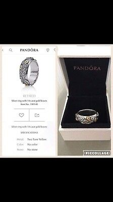 Genuine Pandora Silver & 14k Ring.