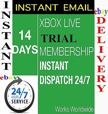 XBOX LIVE 14 day GOLD Membership CODE - INSTANT DISPATCH - 2 weeks- 14 days