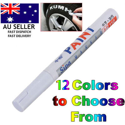 AU Stock Colorful Waterproof Permanent Paint Pen Car Bike Tyre Tire Markers