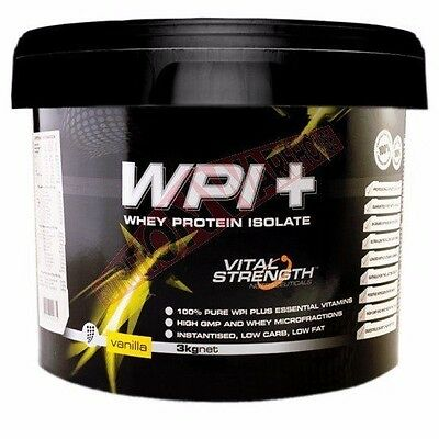 Vital Strength WHEY PROTEIN ISOLATE 3Kg Lean Muscle Growth- Chocolate Or Vanilla