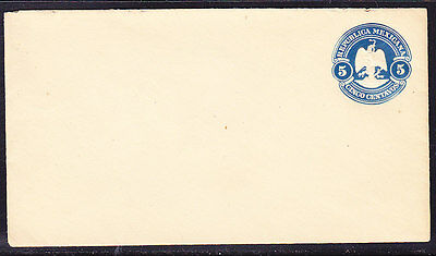 Mexico 1900 Embossed - 5c Blue Envelope  Mint