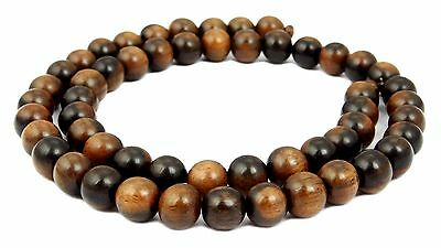 Tiger ebony Balls 4, 6, 8, 10, 12 or 15 mm beautiful Wooden beads Cord