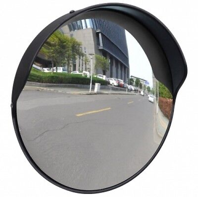 """New Convex Traffic Security Mirror Outdoor Safety Car Display Driveway 12"""" Black"""