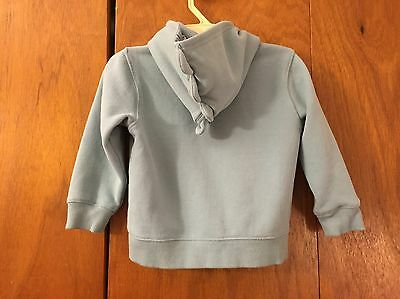 Gymboree Fleece-Lined Hoodie 2T-3T Month Jacket Striped Dinosaurs Hood Baby Blue